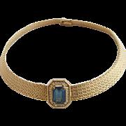 Vintage Grosse Germany Gold Tone Choker Necklace