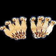 Hobe Gold Tone Earrings