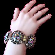 Vintage Judy Lee Carnival Glass Bracelet