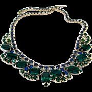 REDUCED Vintage Green Rhinestone Necklace