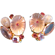 Delizza and Elster Pink Pillowcase Clip Earrings - Book Piece