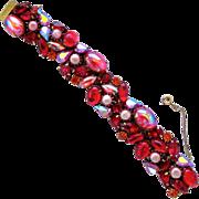 REDUCED Kramer Red Cabochon Stunner Bracelet