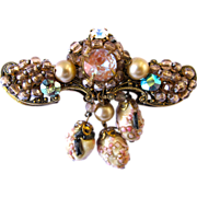Kramer Saphiret Dangle Brooch