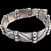SALE Hector Aguilar Taxco Silver Bracelet - Book Piece