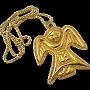 Rare MMA WAG 1992 Angel Pendant