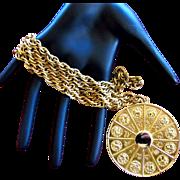REDUCED Napier Zodiac Medallion Pendant Necklace
