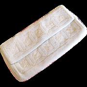 Sarne White Italian Beaded Clutch Purse