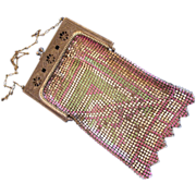 REDUCED Whiting and Davis 1920's Metal Flapper Purse