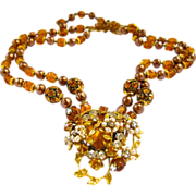 "Topaz Crystal and Faux Pearl ""Haskell Style"" Choker Necklace"