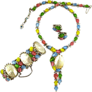 Trifari Alfred Philippe Pastel Fruit Salad and Mother of Pearl Parure