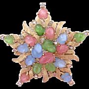 SALE Trifari Pastel Fruit Salad Star Pin