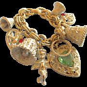 REDUCED Vintage Whitewash Wedding Charm Bracelet