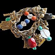 REDUCED Vintage Asian Symbol Charm Bracelet