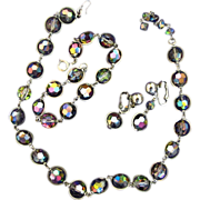 SALE Bergere Carnival Glass Style Glass Bead Parure
