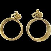 Vendome Gold Tone Wire Hoop Earrings