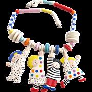 Vintage Ruby Z Adorable Children Ceramic Necklace