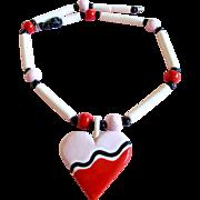 Ruby Z Heart Pendant Necklace by Candace Loheed