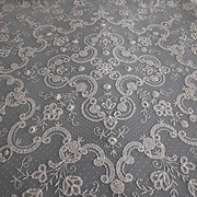 Large Antique Princess Brussels Dotted Net Lace Panel, Wedding Veil, Train, Bedspread or Table