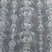 Old White Figural Net Filet Lace with Medallions & Greek Scenes