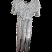 SOLD Antique Edwardian Titanic Era White Tambour Net Lace Dress
