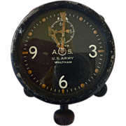 SOLD WWl Waltham 8 Day XA Aircraft Aviation Section US ARMY Military Aviation Clock w Provenan