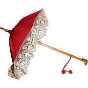 """15"""" Antique Jumeau Doll Parasol"""