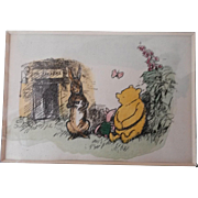 Hand colored Winnie the Pooh Print 1928