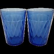 Pair of Cobalt Cocktail or Juice Glasses