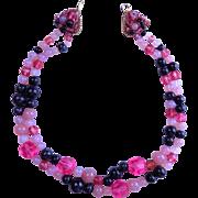 Coppola e Toppo Pink and Black Necklace
