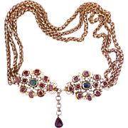 CHANEL 1970's Belt or Necklace with Gripoix Glass