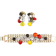 Hobe Fruit Salad Bracelet and Earrings
