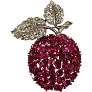 "Trifari ""Alfred Philippe"" Swinging Apple Pin Brooch"