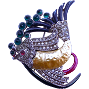 Trifari A. Philippe Pearl Belly Pin Clip