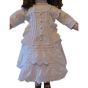 SALE Wonderful original and antique french dress for large BRU or Jumeau doll