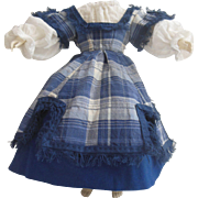 3 piece dress set for Huret or early french fashion doll