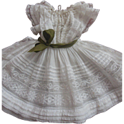 "Whitework dress for 16"" french Steiner Bru or Jumeau doll"
