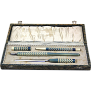 Boxed 4-Piece Writing Set, Art Deco, German
