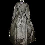 SOLD Civil-War Era Crinoline Mourning Gown, c1860