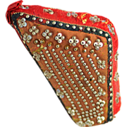 Pincushion in the form of a harp, c1820
