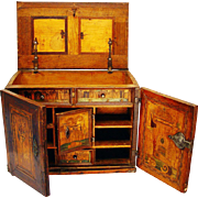 Nonsuch Table Cabinet/Chest, late 16th century