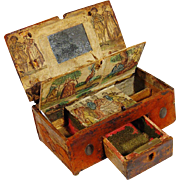 SOLD 17th Century Leather Sewing or Trinket Box