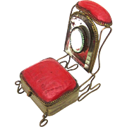 Ring Box in the Form of a Prie-Dieu (Kneeling Chair for Prayer), c1890