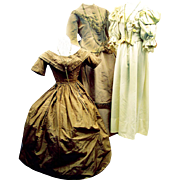 SOLD Three Generations of Wedding Gowns, Early-Mid-Late Victorian
