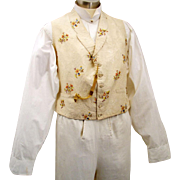 SALE Embroidered Silk Waistcoat for a Gentleman, early Victorian