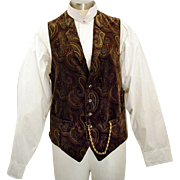 Vintage Paisley Waistcoat with Watch Chain Buttonhole