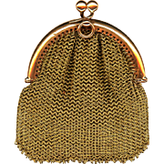 SOLD Beautiful Rose Gold Chatelaine Coin Purse, Victorian