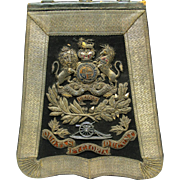 Decorative Original Sabretache, British Royal Artillery Regiment, Victorian. Maker Joseph Lyon