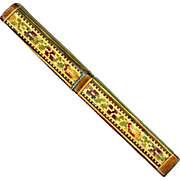 Rare Straw Work Bodkin Case, c1820