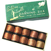 Complete Box of Silk Threads for Darning, Belding Corticelli, USA, early 20th Century