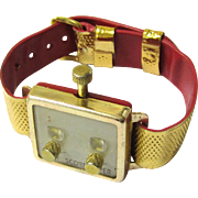 Vintage Wristwatch-form Golf Score Keeper